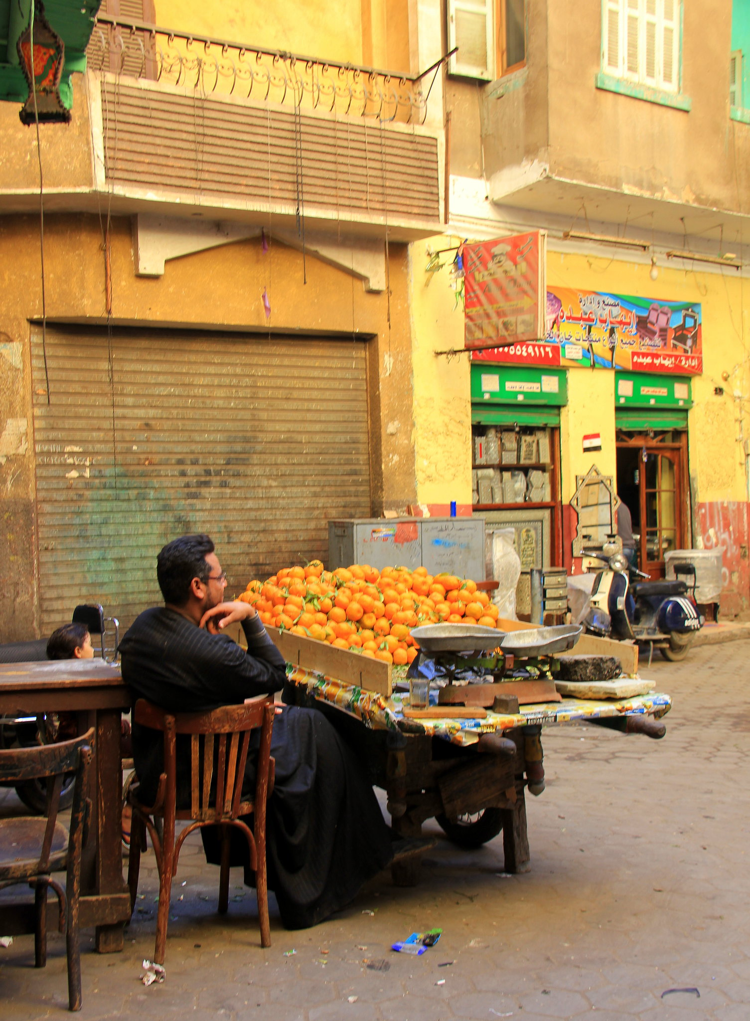 man selling fruits in old cairo