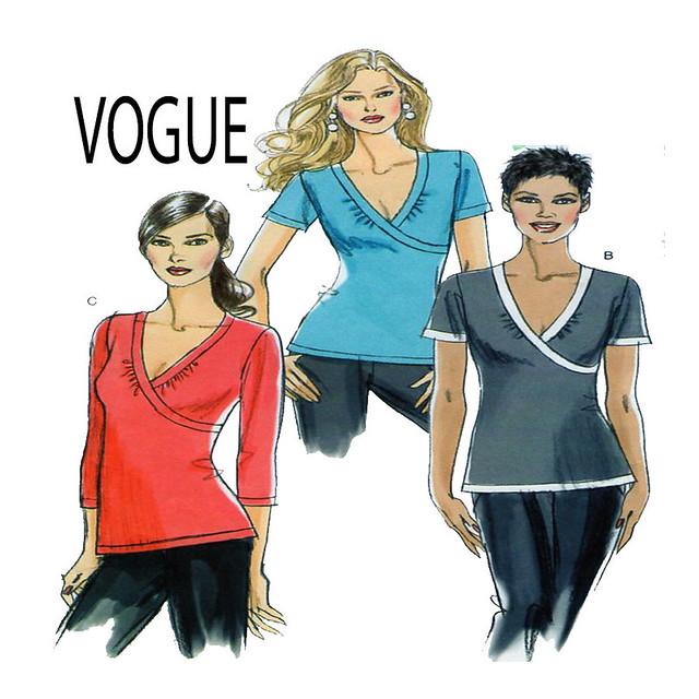 Vogue 8477 top shirt pattern