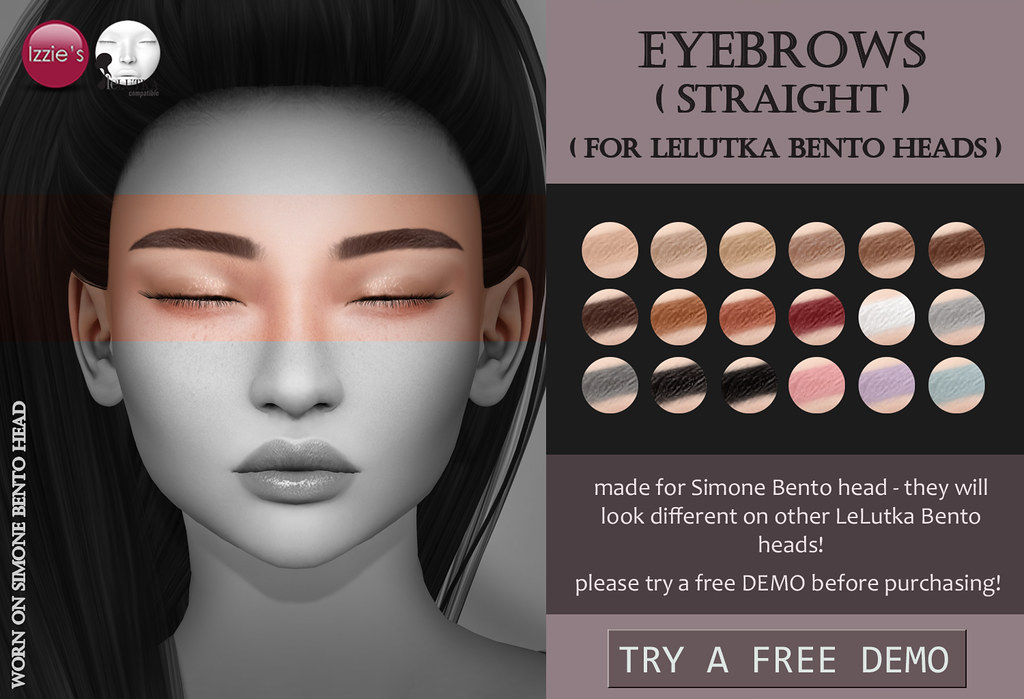 Lelutka Eyebrows straight - TeleportHub.com Live!