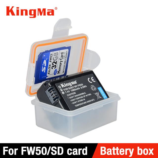 Hộp đựng pin KIngMa ron cao su chống nước cho pin Sony NP-FW50/ SD card