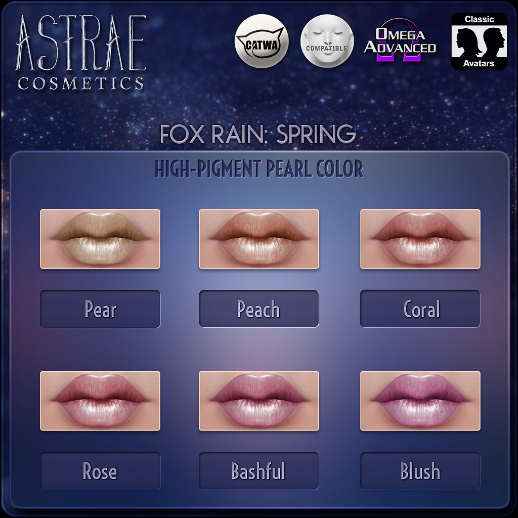 Astrae . Fox Rain: Spring Lip Colors