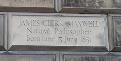 Photo of James Clerk Maxwell stone plaque