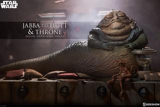 原來王座上放的是這些東西啊~ Sideshow Collectibles《星際大戰六部曲:絕地大反攻》赫特族的賈霸與王座 Jabba the Hutt and Throne 1/6 比例豪華套組