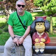 Un día tuve la suerte y el honor de compartir banco con mi admirada y gran amiga Mafalda.