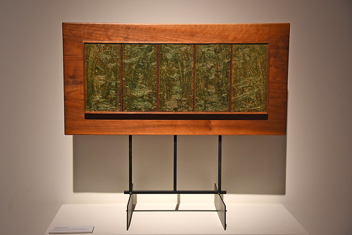 "Ormond Sanderson's ""Metamorphosis"" (1963 - Enamels on etched copper, basse-taille technique). ""Metamorphosis"" was among the works featued in the United States Pavilion at the 1964-65 New York World's Fair."