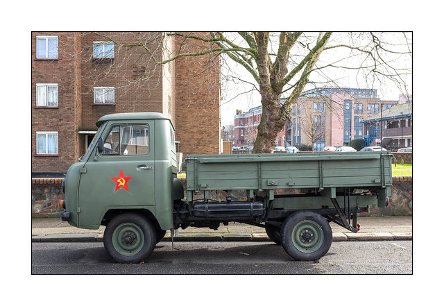 Soviet Army Truck, East London, England.