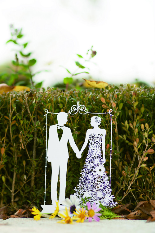 Papercut Patterns - Bride and Groom Templates