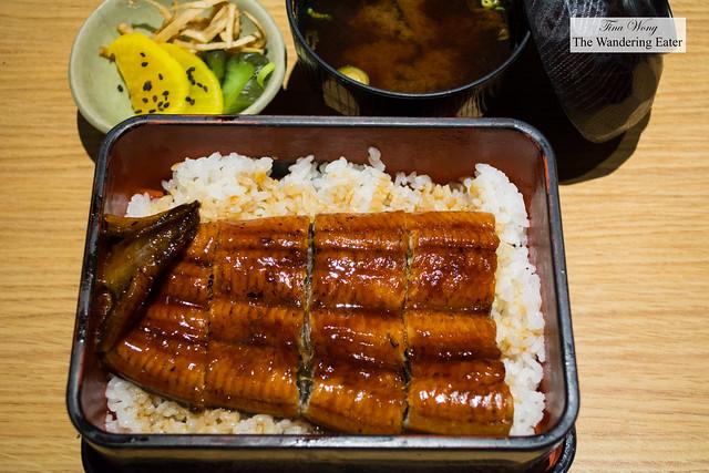 Unagi don - Grilled eel over rice