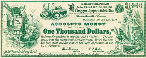 Absolute Money satirical note 1-front