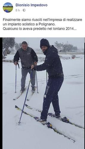 In campagna si può sciare