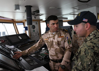 USS Hurricane participate in a trilateral exercise with Iraq and Kuwait