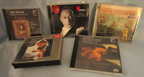 Lot of 5 Classical Music CDs Played With Various Stringed Instruments