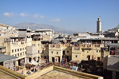 View of the Tannery in the Medina, Fes