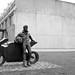 Aquí con la moto