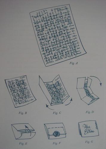 奥斯丁时代一张信纸从上写到下,再从下写到上,然后再从左到右最后右到左,信息量很大