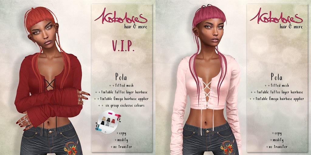 [KoKoLoReS] Hair - Pola - mainstore release and V.I.P. gift! - TeleportHub.com Live!