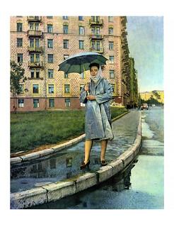 166 С зонтиком по улице