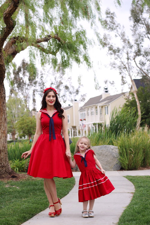 Trashy Diva Sailor Dress Rockabilly Baby Skipper Dress