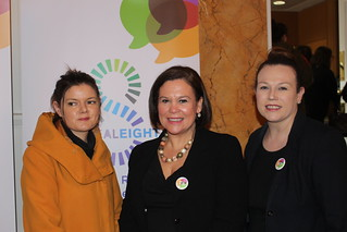 Kathleen Funchion TD, Mary Lou McDonald TD, Louise O'Reilly TD