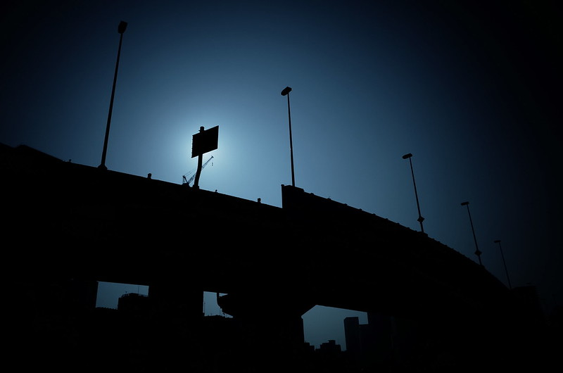 Highway silhouette