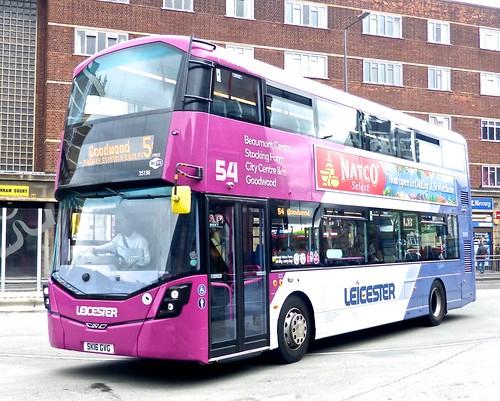SK16 GVG 'First Leicester' No. 35186 '54' Wright Streetdeck on 'Dennis Basford's railsroadsrunways.blogspot.co.uk'