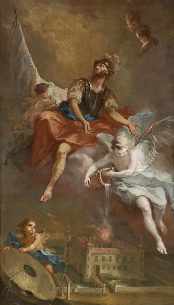 Martin Johann Schmidt - St. Florian rettet Stockern