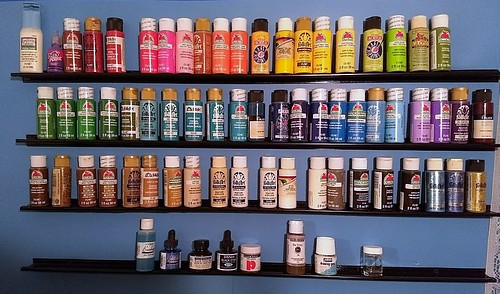 craft paint shelves