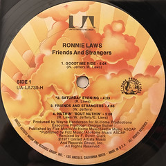 RONNIE LAWS:FRIENDS AND STRANGERS(LABEL SIDE-A)