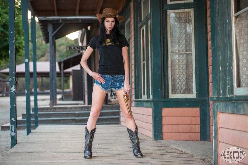 99bb8752a92 ... Pretty Cowgirl Model Goddess with Cowboy Hat
