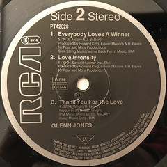 GLENN JONES:GLENN JONES(LABEL SIDE-B)