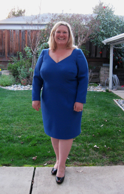 Blue wool dress H3
