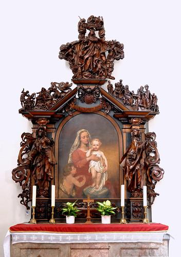 Grauhof, Goslar, Niedersachsen, Klosterkirche, altar of St. Mary