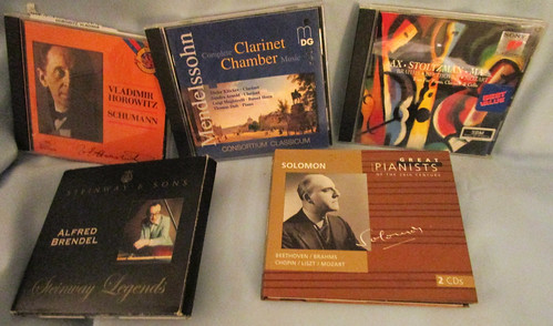 Lot of 5 Classical Music CDs Played With Piano, Cello, and Clarinet