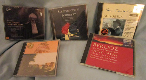 Lot of 5 Classical Music CDs Featuring Berlioz and Schubert