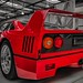 Classic car Ferrari F40 - black & red
