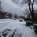 Snow on Willard Road off Coventry Road in South Yardley - Partners in Health Centre
