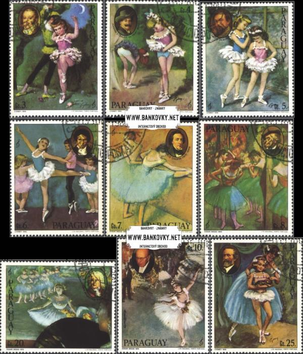 Známky Paraguaj 1980 Hudba a balet, razítkovaná séria