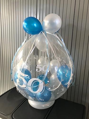 Kadoballon 50 Jaar Blauw
