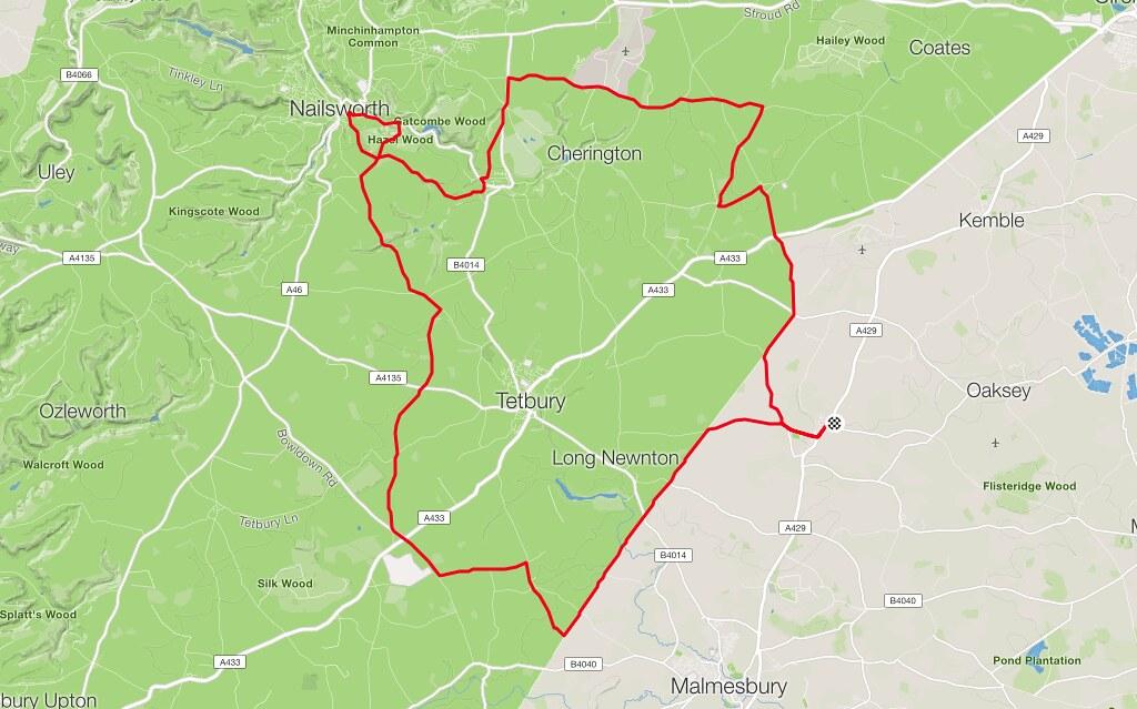 Crudwell Map