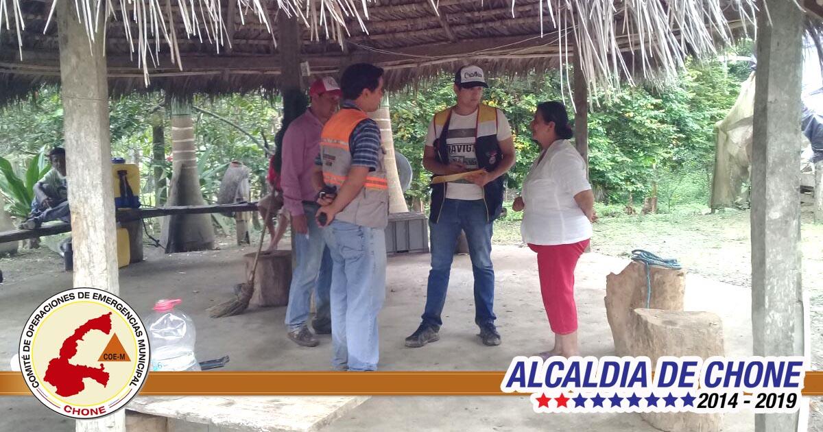 COE-M evaluó afectaciones en El Tillo de Ricaurte