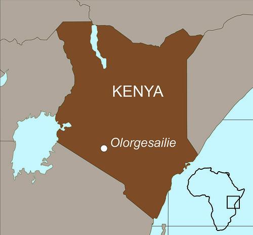 Kenya Map w Olorgesailie