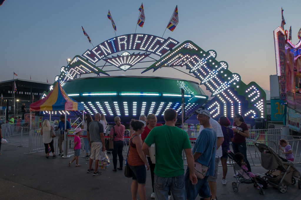 Rides and Carnival Games at the Iowa State Fair