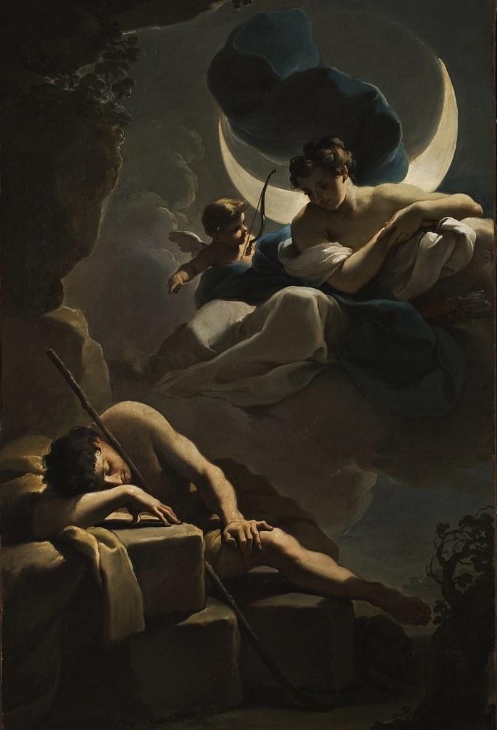 Ubaldo Gandolfi - Selene and Endymion (c.1770)