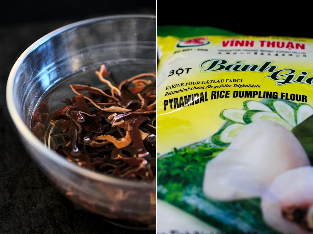 Banh gio   Vietnamese rice flour and pork pyramid dumplings ingredients   platedpalate.com
