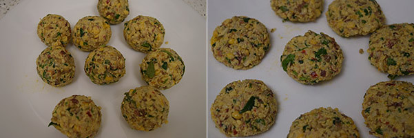 Vazhaipoo Vadai cooking steps by GoSpicy.net