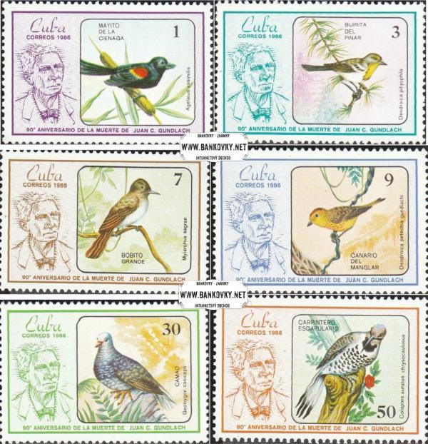 Známky Kuba 1986 Vtáci, nerazítkovaná séria