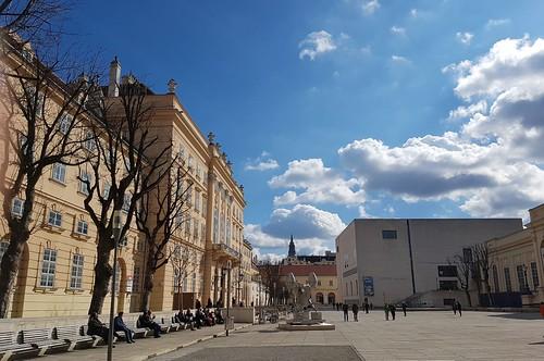 Wien, Haupthof des Museumsquartiers