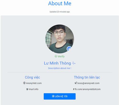 Share miễn phí bộ Code web Profile Page cực đẹp