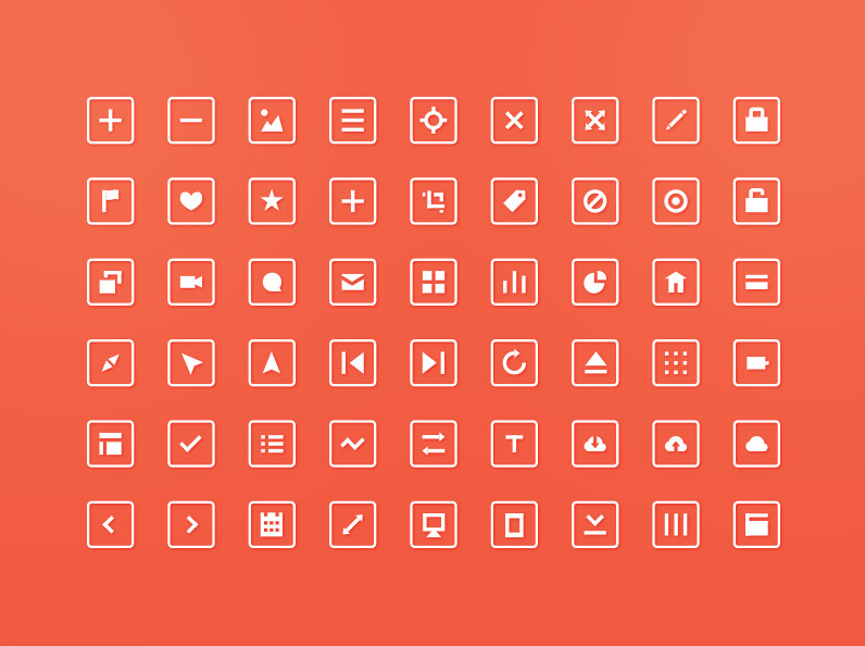 Squared Icons – square icons in PSD format