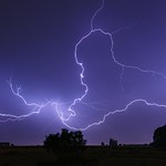 9. Juuni 2014 - 1:24 - Spider lightning • Foudre spider • 08/06/2014 • Waremme (Belgium)